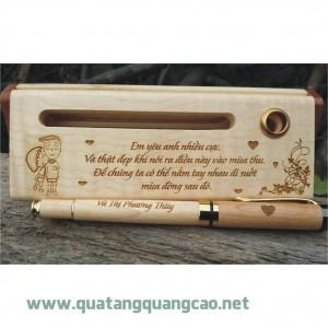 Bút gỗ khắc tên chữ hình 16