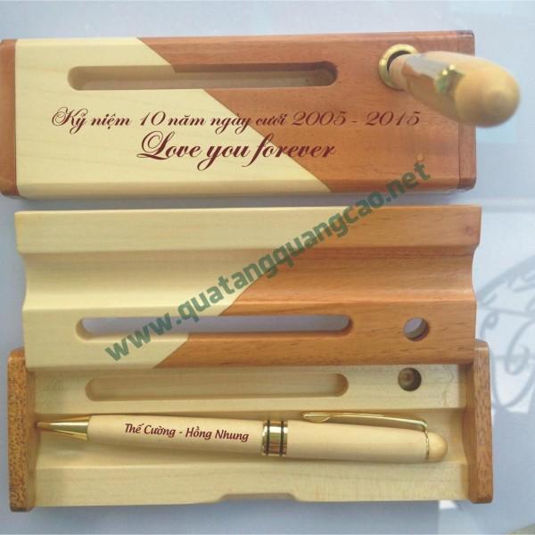 Bút gỗ khắc tên chữ hình 2