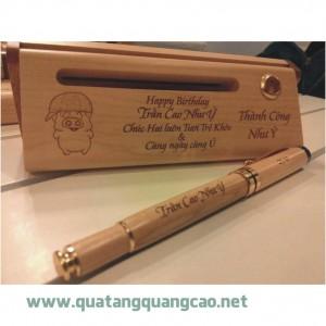 Bút gỗ khắc tên chữ hình 15